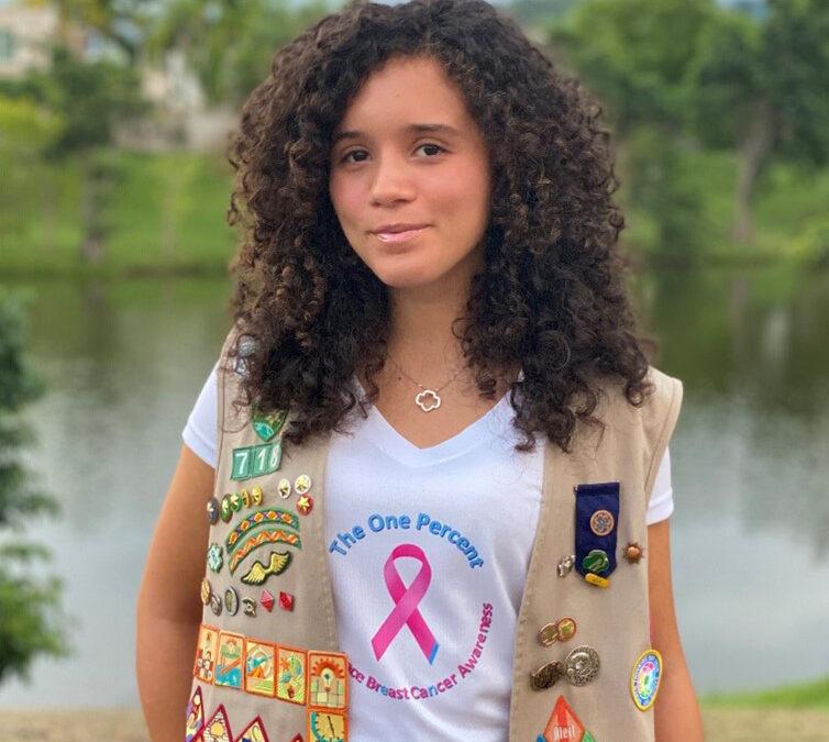 Estudiante Bright Stars entrevista a Michelle Obama y crea  The one percent: A Human Race Breast Cancer Awareness