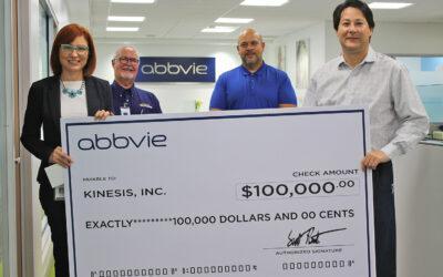 Fundación Kinesis recibe importante donativo  de AbbVie Puerto Rico